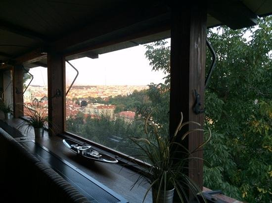 the view from Host Restaurant in Prague