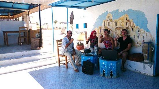 Restaurant sidi bou said midoun auf dachterrasse foto for Sidi bou said restaurant
