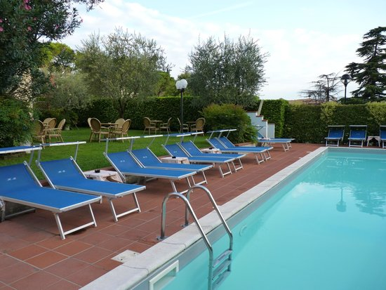Hotel Benaco : the swiming pool and part of the garden