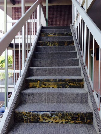 Atlantic Eyrie Lodge: The stairs