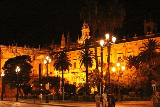 Catedral de Sevilla: Catedral Vista Nocturna