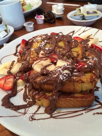 Yianni's Cafe: Nutella French Toast is one of the sweetest and best things you can get!