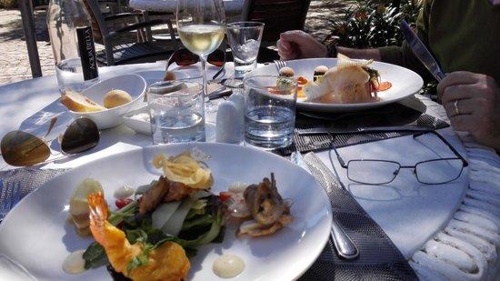Le Bon Vivant: Our delicious lunch.