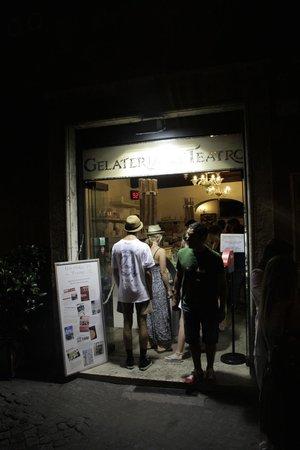 Gelateria del Teatro : вход с улицы