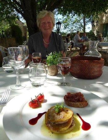Auberge du Fiacre : Filet de boeuf poêlé et sa sauce bordelaise,  Risotto d'épautre