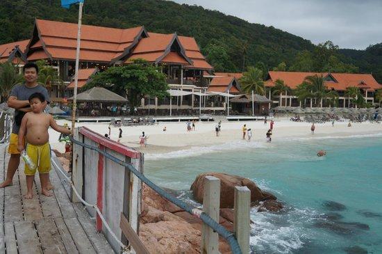 Laguna Redang Island Resort: The resort and beach area