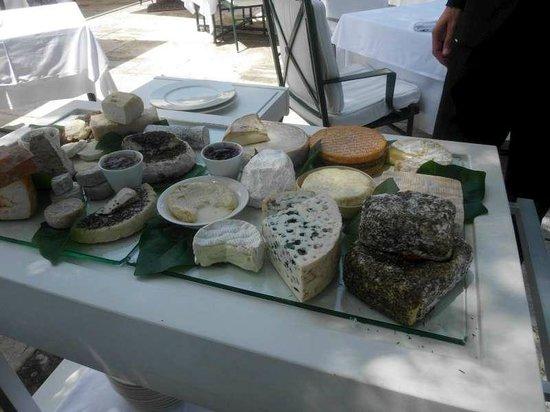 Restaurant Les Bories : Le plateau de fromages affinés des Bories