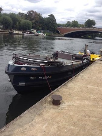 The Runnymede on Thames: our little boat :-)