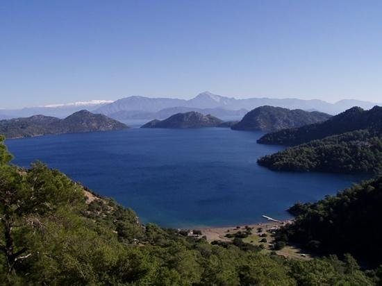 Dalaman, Turecko: Sarsala bay from the top