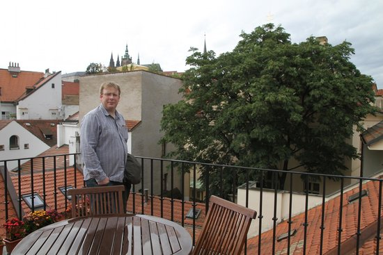 Hotel Pod Vezi: View from the roof balcony