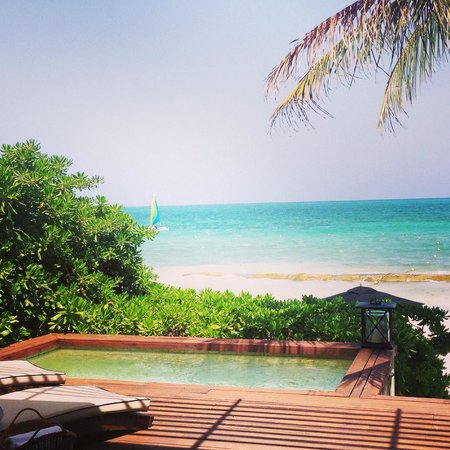 Rosewood Mayakoba : view from deck of beachfront room