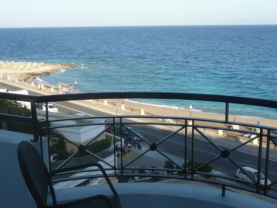 Mitsis Grand Hotel: View from our room to the left