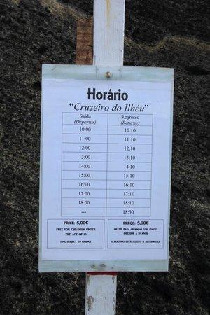 Vila Franca do Campo, Portugal: Plan/Preise der Fähre