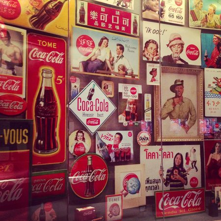 World of Coca-Cola : Some of the vintage signs and advertisements on display.