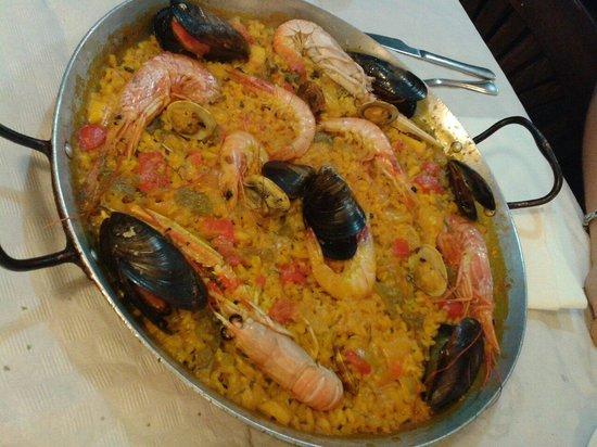 Restaurante La Palmera : Delizioso paella di mare!