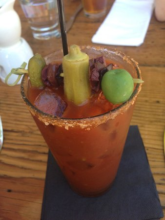The Hanford House Inn: bloody mary with picked okra