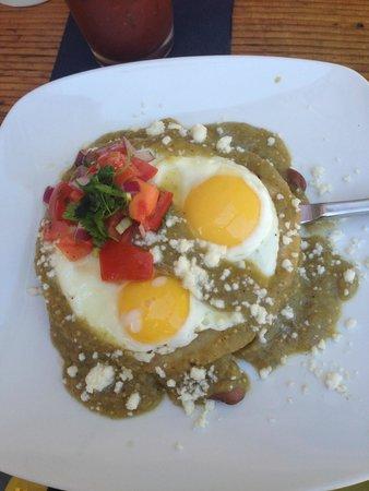 The Hanford House Inn: huevos rancheros