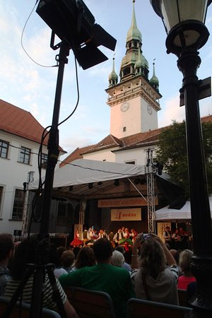 ONDRAS - the 'Military Artistic Ensemble: open air concert has a great atmosphere