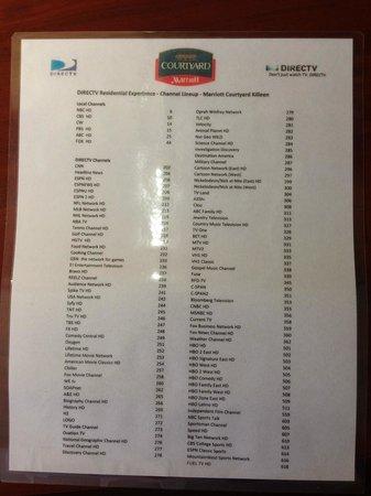Courtyard Killeen : TV channel listings