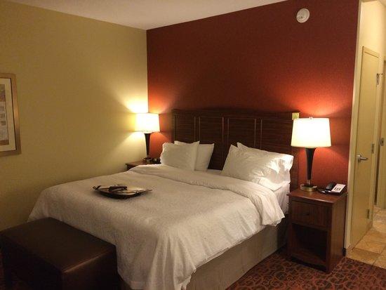 Hampton Inn & Suites Jamestown ND: Bed area