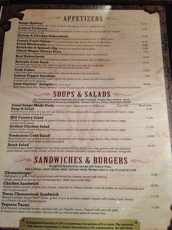 Saltgrass Steak House: Appetizer menu