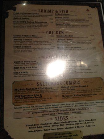 Saltgrass Steak House: Other entree options