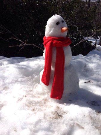 Mision Imposible Lodge & Spa: Muñeco de nieve hecho por Martina