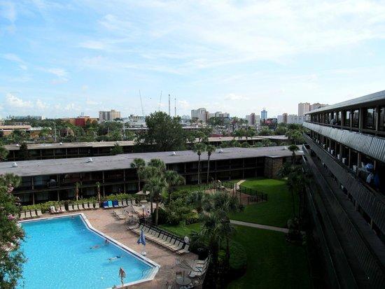 Rosen Inn International: View from outside our room 2624