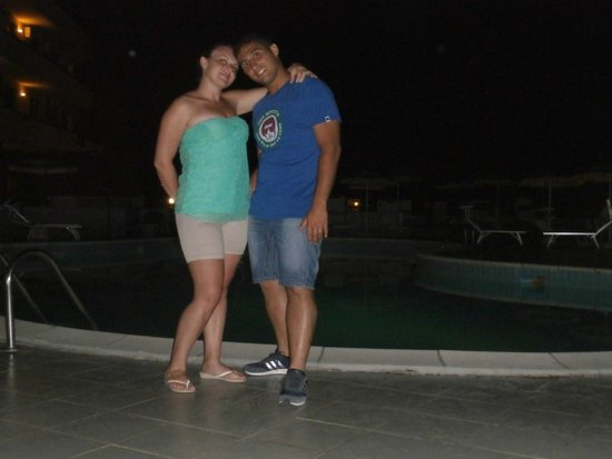 Clorinda Paestum Hotel: piscina di notte