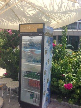 Calista Luxury Resort: Холодильники с водой
