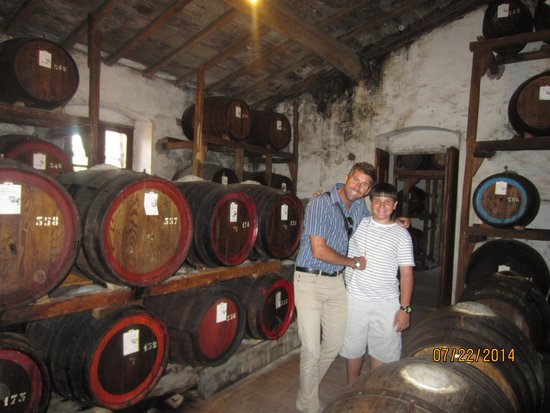 Tuscany in Tour: Chris and our driver Massimo at a San Gimignano winery