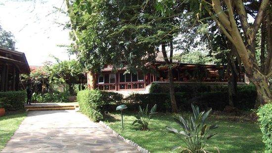 Sarova Mara Game Camp : Bar/lounge on left; dining area on right