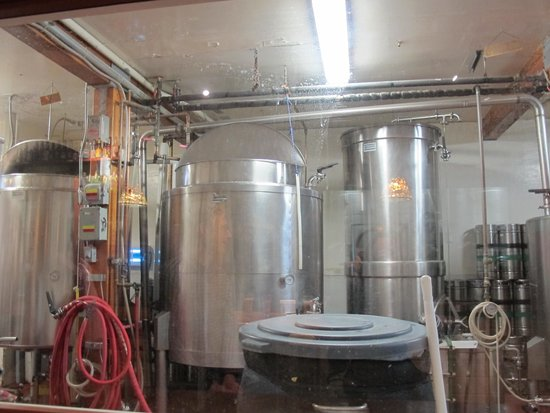 Alaskan Brewery and Bottling Company : The brewery's first tanks...