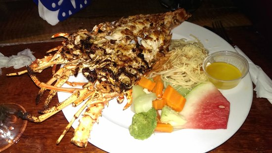 Seaside Cabanas: Grilled lobster at Roses