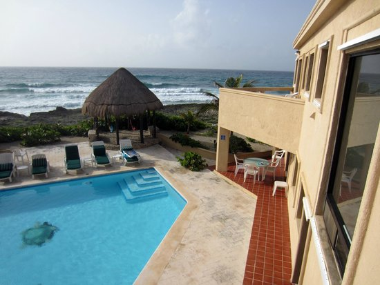 Nicte-Ha: View from bedroom balcony