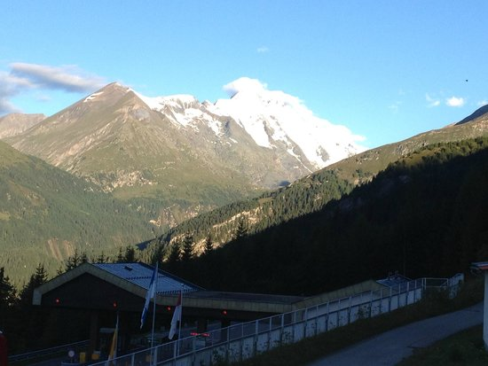 Gasthof Tauernalm: View from room 3 balcony of the Grossglockner