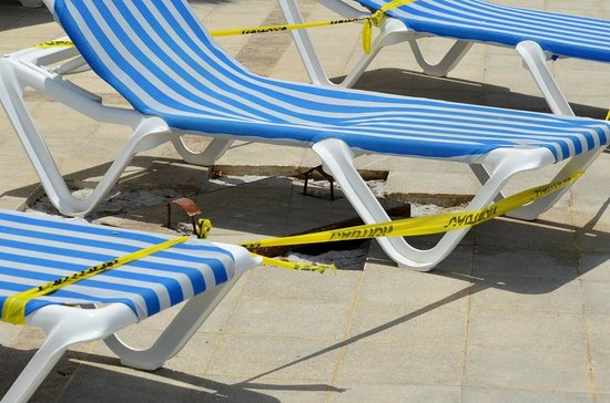 Grand Bahia Principe Jamaica: Staff member passed out from working on this!