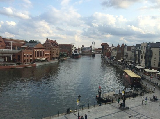 Hilton Gdansk: View of river Motlawa, as seen from room