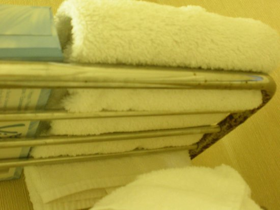 Yankee Village Motel: Towel bar