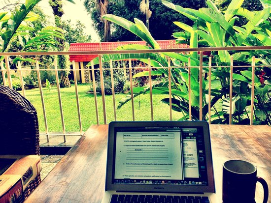 Banda Inns: From the veranda - perfect for breakfast or a days work