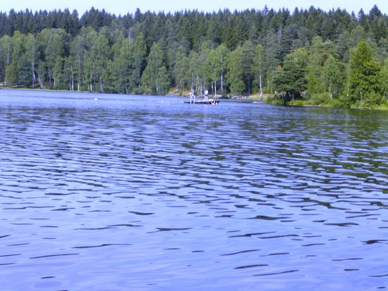 Sognsvann Lake: When we were there it wasn't crowed at all. Maybe because it was overcast.