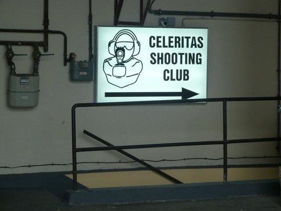 Entrance into the Celeritas Shooting Club