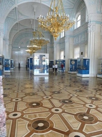 Alla Tours : The Hermitage - The most stunning inlaid parquet floors, different in every room