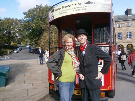 Discover Buxton Tours: Being welcomed on board by Michael, one of four tour guides