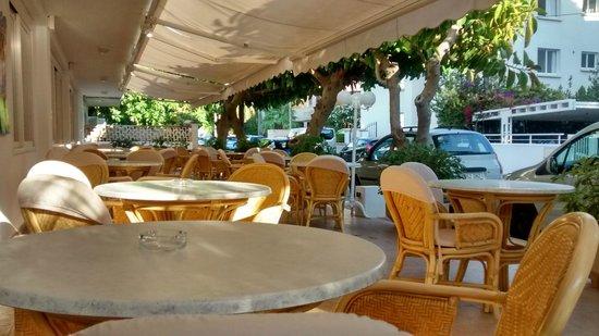 Hotel Villa Singala: Outdoor terrace