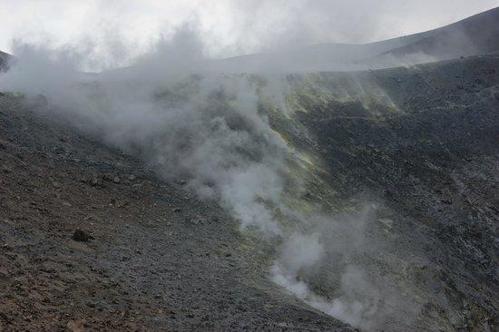 Scalata al Cratere : fumarole