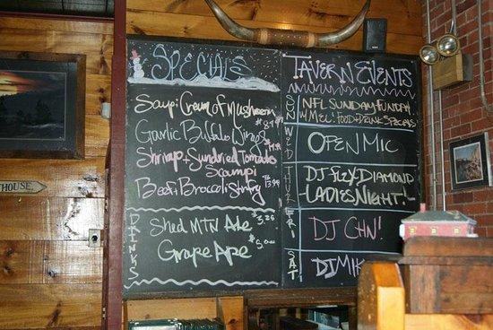 Luckydog Tavern & Grill: Specials Board
