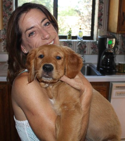 Eaglenest Bed and Breakfast : Julie - your host with new pup Brett