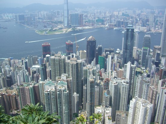 J3 Private Tours Hong Kong: View from Peak (don't worry we took a taxi up)