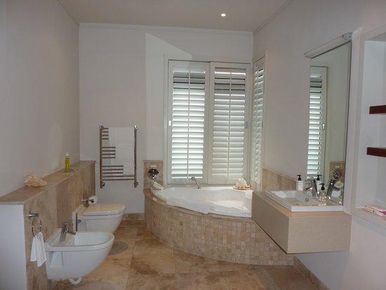 Selkirk House: Bañera más dos duchas en el lavabo
